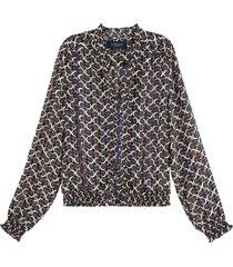 blouse feminine donkerblauw