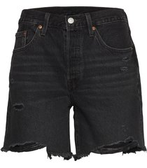 501 mid thigh short bees knees shorts denim shorts svart levi´s women