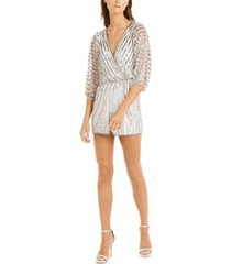 adrianna papell beaded romper