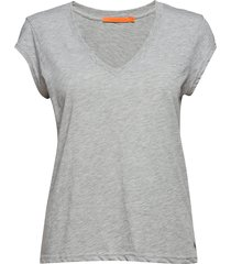 basic tee w. v-neck t-shirts & tops short-sleeved grå coster copenhagen