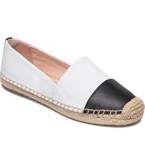 espadrille shoe in canvas with toe cap loafers låga skor vit j.crew