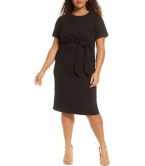 adyson parker knotted tie dress, size 3x in black at nordstrom