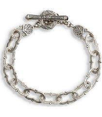 konstantino kleos chain link bracelet in silver at nordstrom