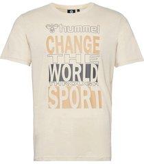 hmlacton t-shirt t-shirts short-sleeved vit hummel