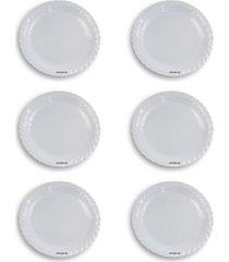 kit 6 saladeiras redonda rasa mã©dia - melamina - branco - dafiti