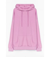 womens the wait is over-sized plus hoodie - lilac