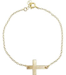women's nashelle cross charm bracelet