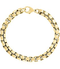 goldplated sterling silver round box chain bracelet