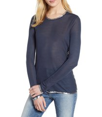women's zadig & voltaire willy foil tee, size x-small - blue
