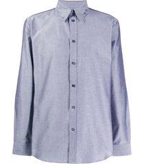 givenchy piercing charm shirt - grey