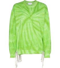 collina strada tie-dye crystal accent sweatshirt - green