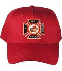 knights templar masonic hat red