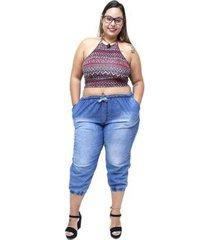 calça jeans brunfer plus size jogger siberia brunfer jeans feminina