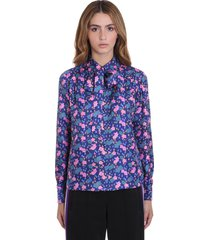marc jacobs shirt in blue silk