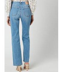see by chloéwomen's denim flare jeans - shady cobalt blue - w27