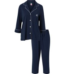 pyjamas lrl heritage 3/4 sl classic notch pj set