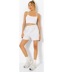 sweat shorts met zakken, grey marl