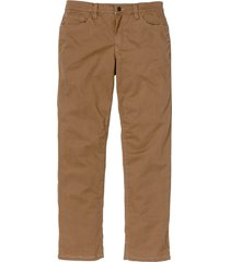 pantaloni termici in twill elasticizzato regular fit (marrone) - bpc selection