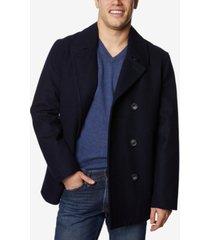nautica men's three-button pea coat