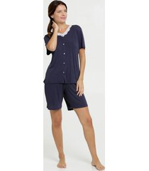 pijama feminino estampa bolinhas manga curta marisa