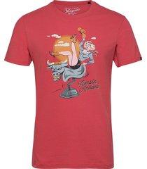 mechanical bull t-shirt t-shirts short-sleeved röd original penguin