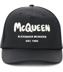 alexander mcqueen graffiti logo baseball cap