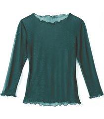 transparant zijden shirt, smaragd 36/38