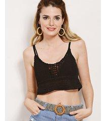 top negro nuevas historias tejido crochet lp11-12