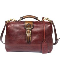 old trend doctor leather satchel bag