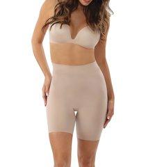 women's belly bandit mother tucker shortie high waist compression shorts, size small - beige