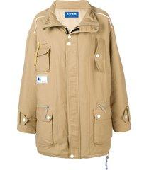 ader error oversized padded coat - brown