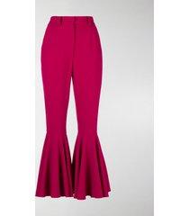 dolce & gabbana flared cuffs trousers