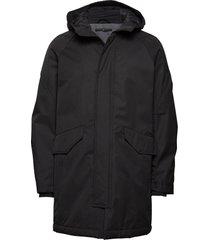 padded parka coat gevoerd jack zwart junk de luxe