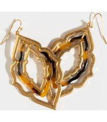 katalina resin medallion drop earrings - tortoise