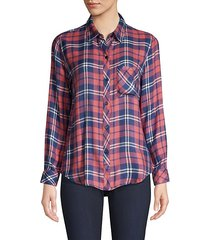 hunter plaid button-down shirt