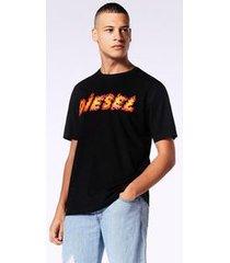 camiseta diesel t-just-sh   masculina preto