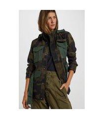 casaco militar estampa camuflada - 44