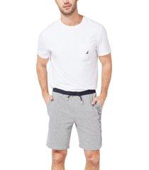 nautica men's fleece knit logo shorts