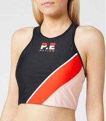 p.e nation women's aspendos sports bra - black - l - black