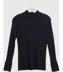 sweater ash liso negro - calce regular