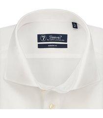 sleeve7 heren overhemden helder wit poplin 3-pack