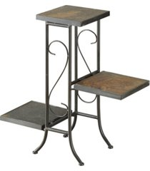 4d concepts 3 tier plant stand with slate top