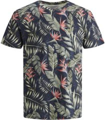 jack & jones men's all over printed short sleeve t-shirt