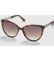 lane bryant women's embellished cateye sunglasses onesz brown