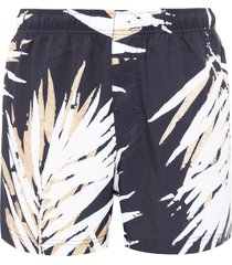 short masculino beach palm - preto