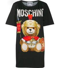moschino roman teddy bear t-shirt dress - black