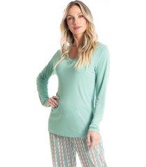 pijama longo estampado liz