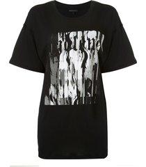 ann demeulemeester fine abstract-print t-shirt - black