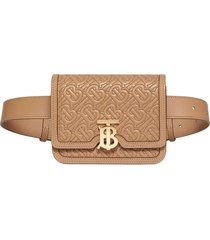 burberry belted quilted monogram lambskin tb bag - neutrals