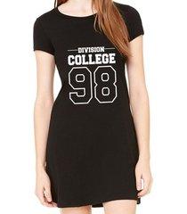 vestido criativa urbana estampado division college